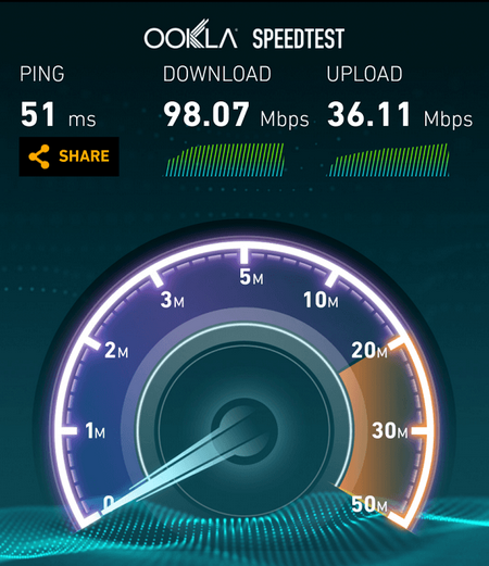 BSNL 5G Speed Test Results Ookla