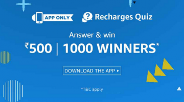Amazon Recharges Quiz Answers Added: 21st Nov (Check Now)