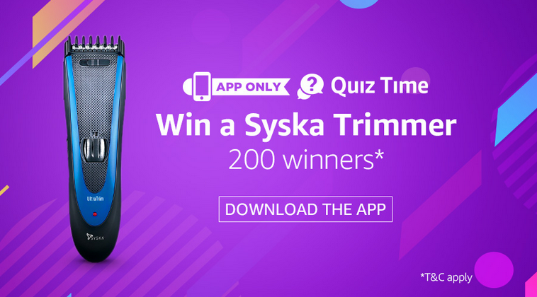 Amazon Syska Quiz Answers Today: Participate & Win A Trimmer