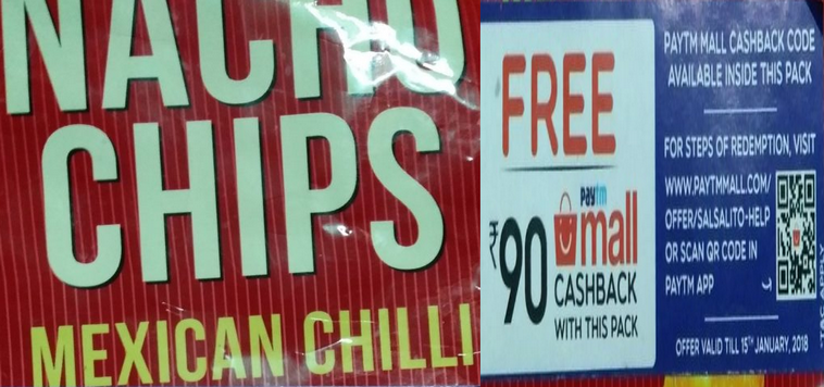 Paytm Mall Offering Rs 90 Cashback With Nacho Chips Pack