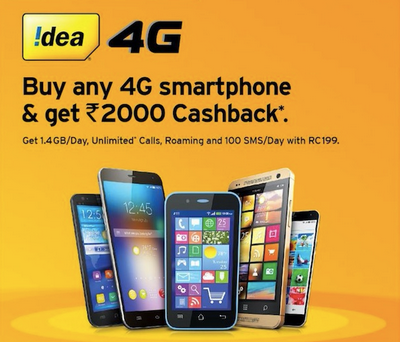 Idea 2000 Cashback Offer Details Activate