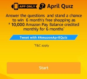 Amazon April Quiz Answers Today
