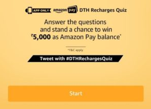 Amazon DTH Recharges Quiz Answers Today