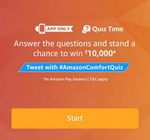 Amazon Comfort Quiz Answers Today