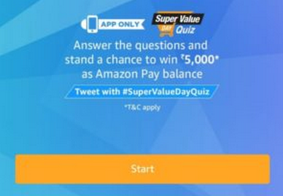 Amazon Super Value Day Quiz Answers Today