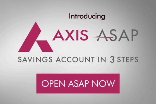Axis Bank Virtual Debit Card Asap Account Offers Cashback