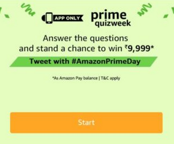 Amazon Prime Quiz Week Quiz Answers Today Contest