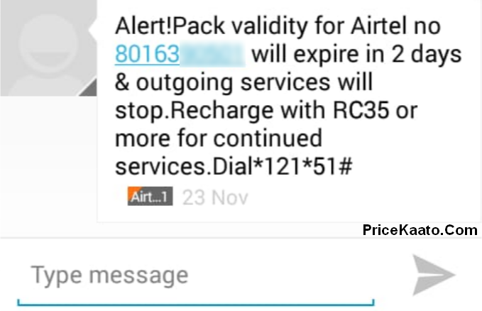 Airtel Vodafone Idea Outgoing Incoming Validity Expiry Recharge