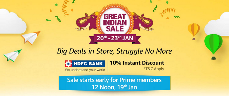 Amazon Great Indian Sale 2019 Offers Dates