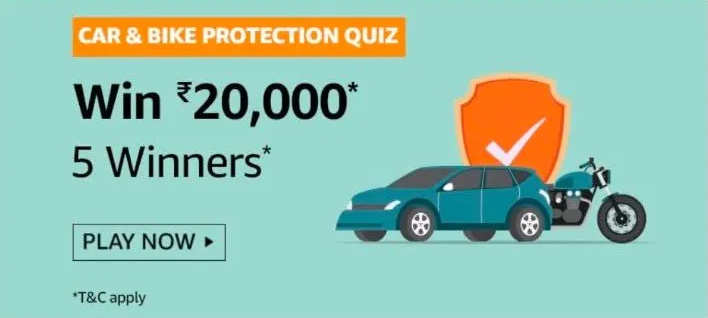 Amazon Car & Bike Protection Quiz Answers