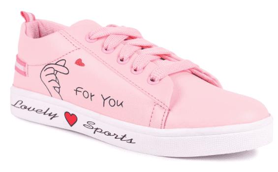 Pink sneakers for women longwalk
