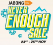 Jabong Never Enough Sale [23rd to 25th Nov]